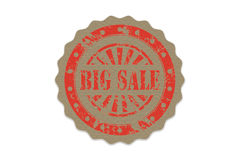 Big sale stamp on paper Royalty Free Stock Image