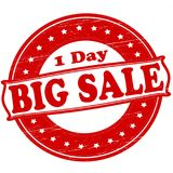 Big sale. Stamp with text big sale inside,  illustration Royalty Free Stock Photography