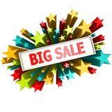 Big sale star banner Royalty Free Stock Image