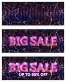 Big sale star banner RGB. This illustration is design Big Sale with star decoration in background and banner size Stock Images
