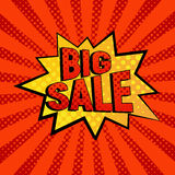 Big Sale star bubble comic style vector illustration Stock Images