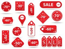 Big sale, sticker and banners, promotion Stock Photography