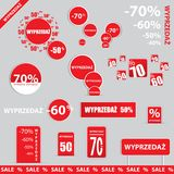 Big sale, sticker and banners, promotion. Background Royalty Free Stock Images