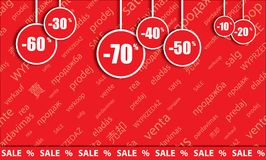 Big sale, sticker and banners, promotion background Royalty Free Stock Photos