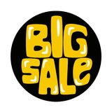 Big sale sticker. Design. Vector illustration isolated on white Royalty Free Stock Photos