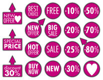 Big Sale stickers Royalty Free Stock Images