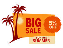Big sale. Summer sale illustration on white Stock Photos