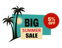 Big sale. Summer sale illustration on white Royalty Free Stock Photos