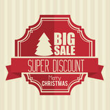 Big sale super discount merry christmas banner design. Vector illustration eps 10 royalty free illustration