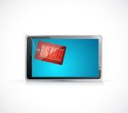 big sale tablet tag illustration design Royalty Free Stock Image