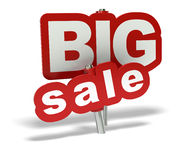Big sale tag. Red big sale tag over a white background Royalty Free Stock Image
