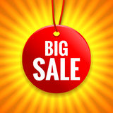 Big sale tag. On bright background Stock Photography