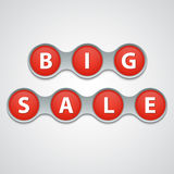 Big sale tag Royalty Free Stock Photo