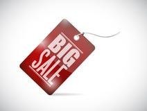 Big sale tag illustration design Stock Image