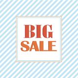 Big Sale Tag in square on colorful background. vector illustration