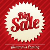 Big sale tag (sticker). Icon for special offer. Royalty Free Stock Photography