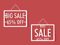 Big sale tag, sticker and label. Royalty Free Stock Images