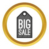 Big sale tag vector icon Royalty Free Stock Photography