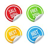 Big Sale Tags with Curled Edge Royalty Free Stock Photography