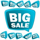 Big Sale tags. + EPS8. 3D big Sale tags. + EPS8 vector file Stock Images