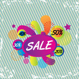Big sale tags Stock Photography