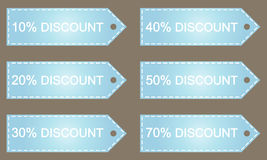 Big Sale tags. With Sale up to 10 - 70 percent text Stock Images