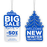 Big sale tags. On white background Stock Photo