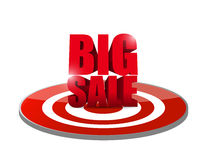 Big sale target business sign Royalty Free Stock Image