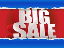 Big sale tear through the paper Stock Images