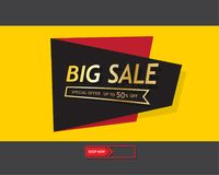 Big sale template banner, Special offer at discount up to 50% off. Vector illustration design. EPS10 Royalty Free Illustration
