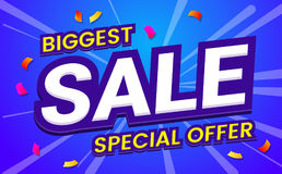 Big sale template banner Vector background Royalty Free Stock Images