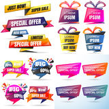 Big sale template banner Vector background Stock Images