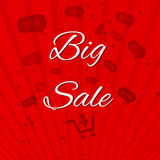 Big sale template paper Royalty Free Stock Photos