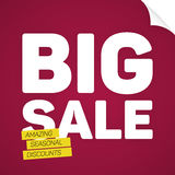 Big sale template with place for your text Royalty Free Stock Photo