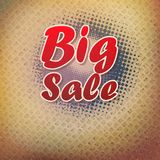 Big sale text on halftone pattern. Stock Image