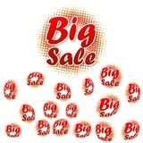 Big sale text on halftone pattern. 3D big sale text on halftone pattern. EPS 10 Royalty Free Stock Photo