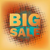 Big sale text on halftone pattern. EPS 10. 3D big sale text on halftone pattern. And also includes EPS 10 Stock Image