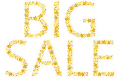 Big sale text made of gold star  Stock Photography