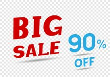 Big sale text message Royalty Free Stock Images