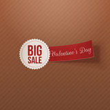 Big Sale Text on white Badge with red Tag Stock Photography