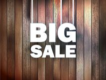 Big Sale text, on wooden. Stock Photography