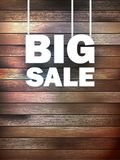 Big Sale text, on wooden. Stock Photos