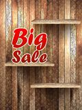 Big Sale text, on wooden. Stock Image