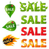 Big Sale Texts and discount. Vector royalty free illustration