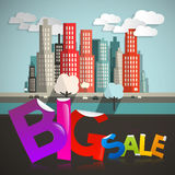 Big Sale Title with City Stock Images