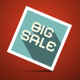 Big Sale Title on Red Background Royalty Free Stock Images