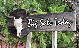 Big Sale Today. Big Sale today on large outdoor sign board Royalty Free Stock Images