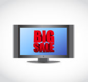 Big sale tv ad business sign Royalty Free Stock Photography