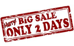 Big sale only two days. Rubber stamp with text big sale only two days inside,  illustration Stock Photography