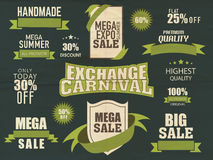 Big sale typographic collection with discount. Stock Image